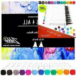 Crafts 4 ALL Fabric Markers Pens Permanent 12 Bright Dual TI