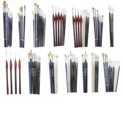 Paint Brushes Sets Flat Pointed Tip Paintbrushes Art Tools f