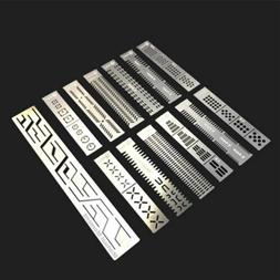 Steel 13 In 1 DIY Carving Auxiliary Ruler Parts For 1/144 1/